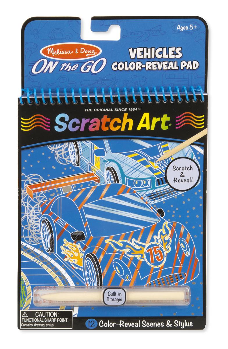 Купить Блокнот для путешествий 'Гравюры - 'Scratch Art Транспорт, Melissa&Doug