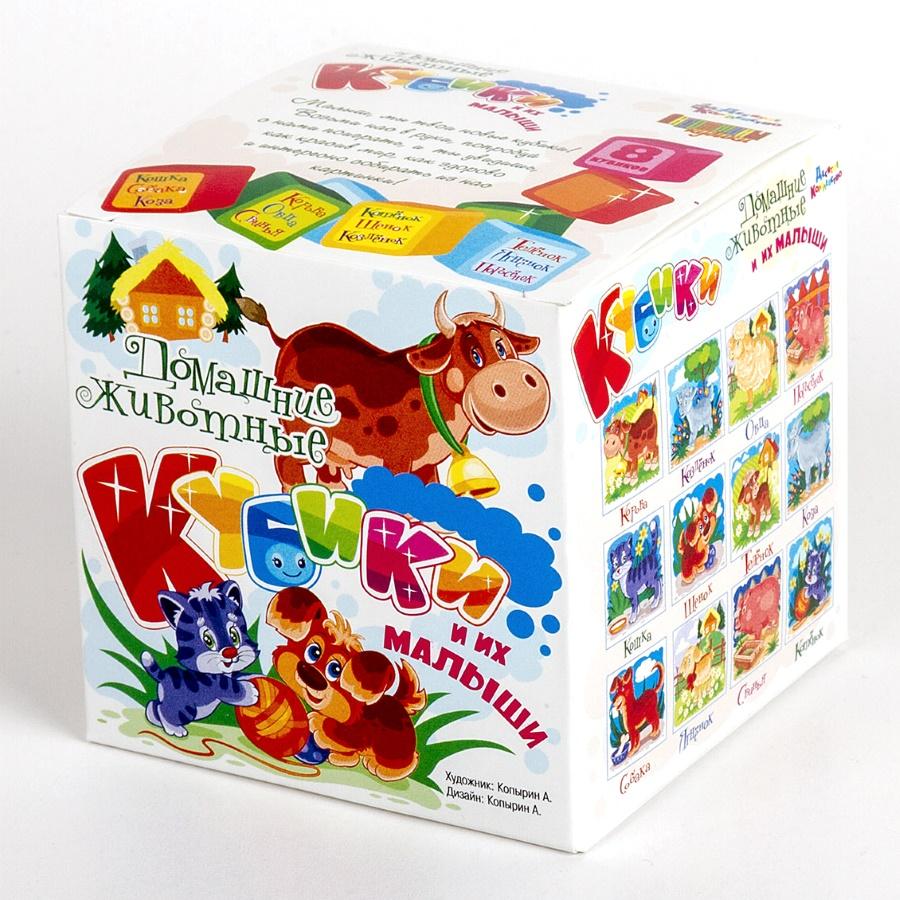 Кубики – Домашние животные и их малыши, 8 штукКубики<br>Кубики – Домашние животные и их малыши, 8 штук<br>