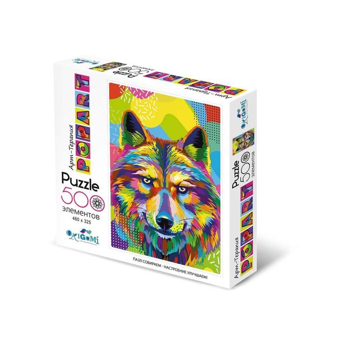 Купить Пазл из серии Арт-терапия. Поп-арт Волк, 500 деталей, Origami