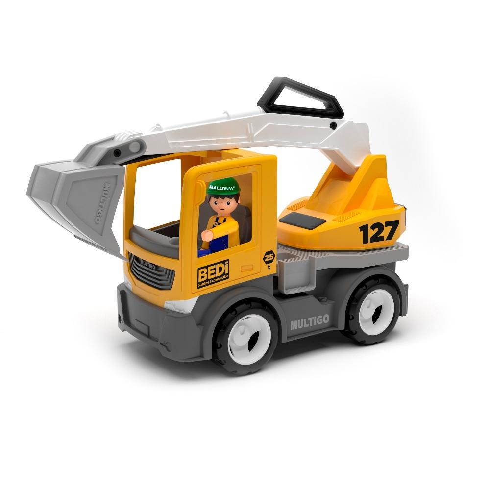 Купить Строительный грузовик-экскаватор с водителем, 22 см, Efko