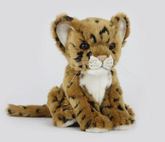 Мягкая игрушка - Детеныш леопарда, 17 см.Дикие животные<br>Мягкая игрушка - Детеныш леопарда, 17 см.<br>