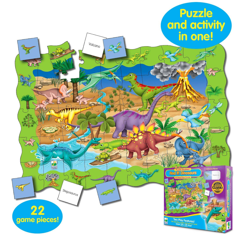 Пазл «Найди динозавров», в наборе с 22 игровыми карточкамиПазлы для малышей<br>Пазл «Найди динозавров», в наборе с 22 игровыми карточками<br>