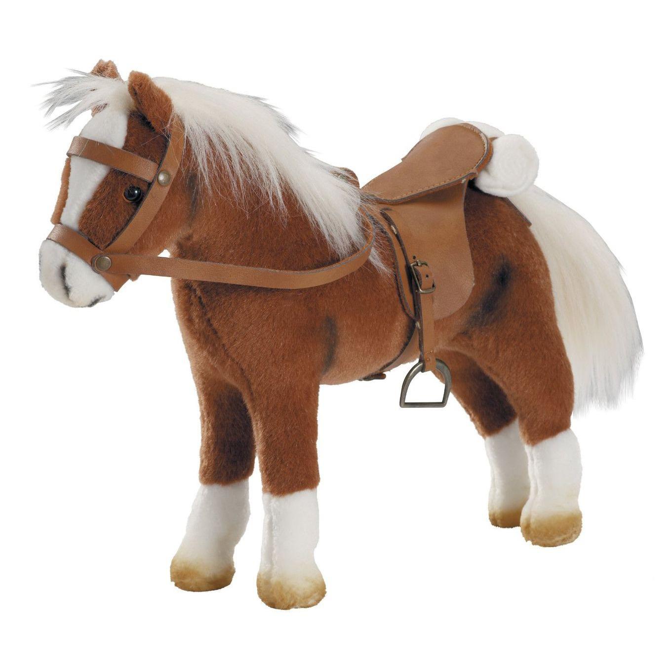 Мягкая игрушка - Коричневая лошадь с седлом и уздечкойЖивотные<br>Мягкая игрушка - Коричневая лошадь с седлом и уздечкой<br>