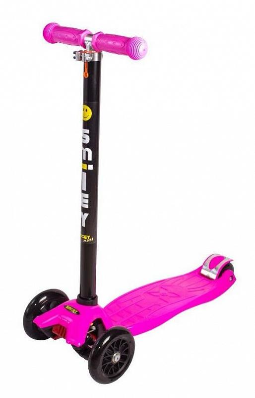 Купить Трехколесный самокат Smiley Maxi, розовый