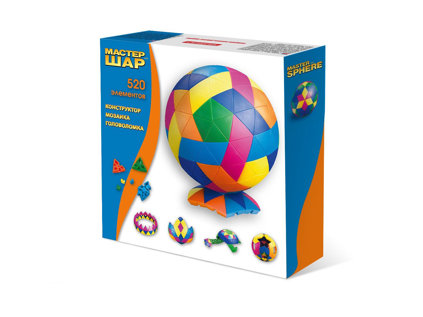 Конструктор объемный - Мастер шар, 520 деталейКонструкторы других производителей<br>Конструктор объемный - Мастер шар, 520 деталей<br>