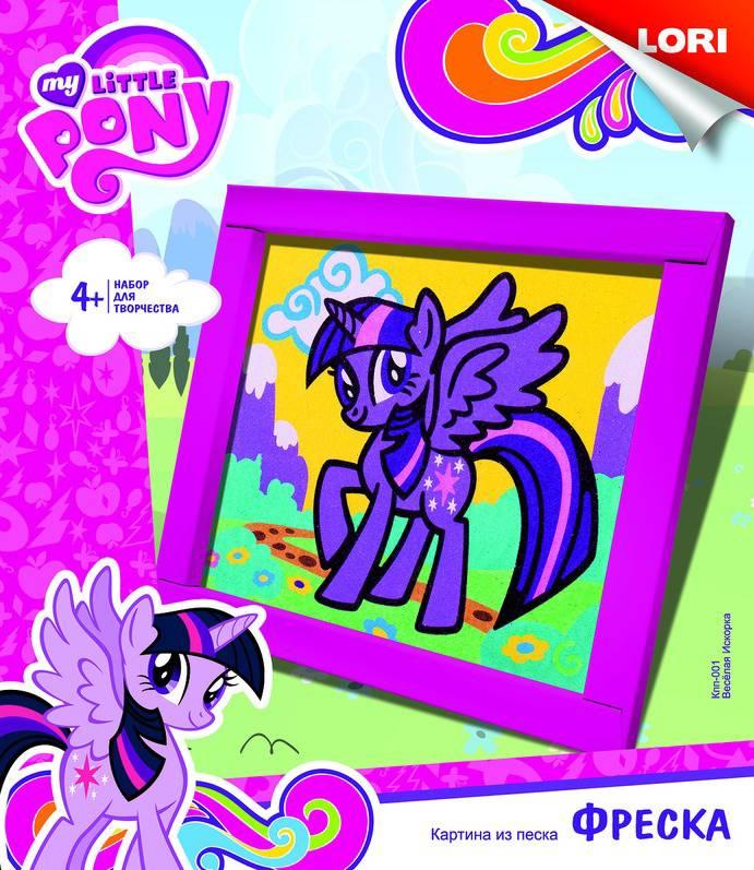 Фреска из песка из серии My Little Pony - Веселая ИскоркаМоя маленькая пони (My Little Pony)<br>Фреска из песка из серии My Little Pony - Веселая Искорка<br>