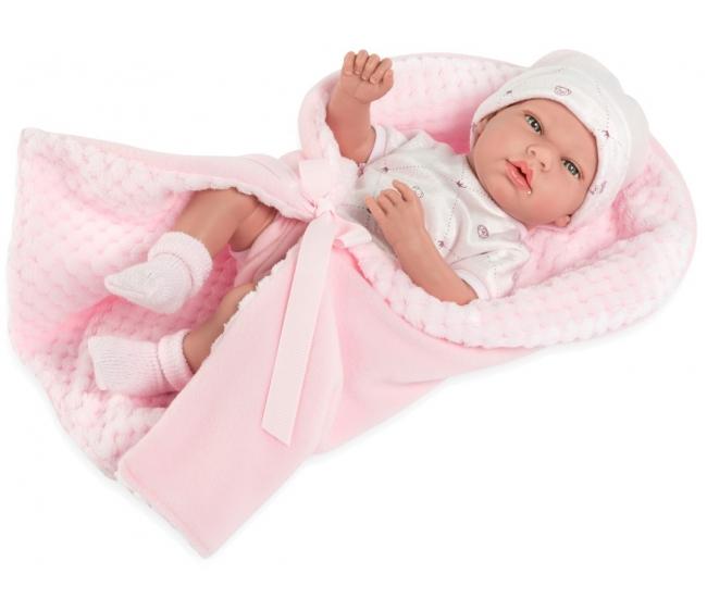 Купить Виниловый пупс Arias Elegance в одежде и одеяле, 38 см