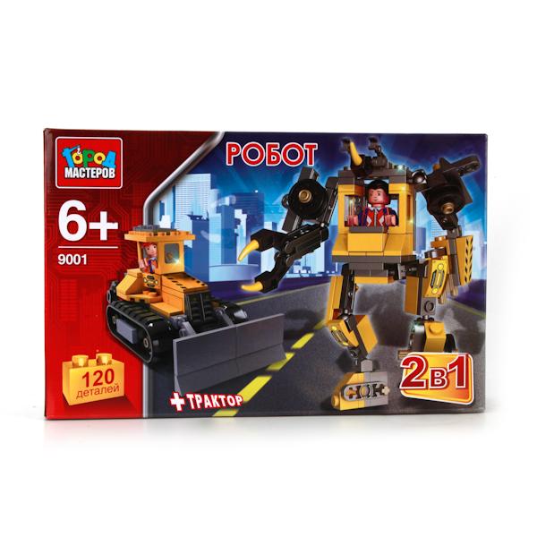 Конструктор – 2-в-1 Робот и Трактор, 120 деталейГород мастеров<br>Конструктор – 2-в-1 Робот и Трактор, 120 деталей<br>