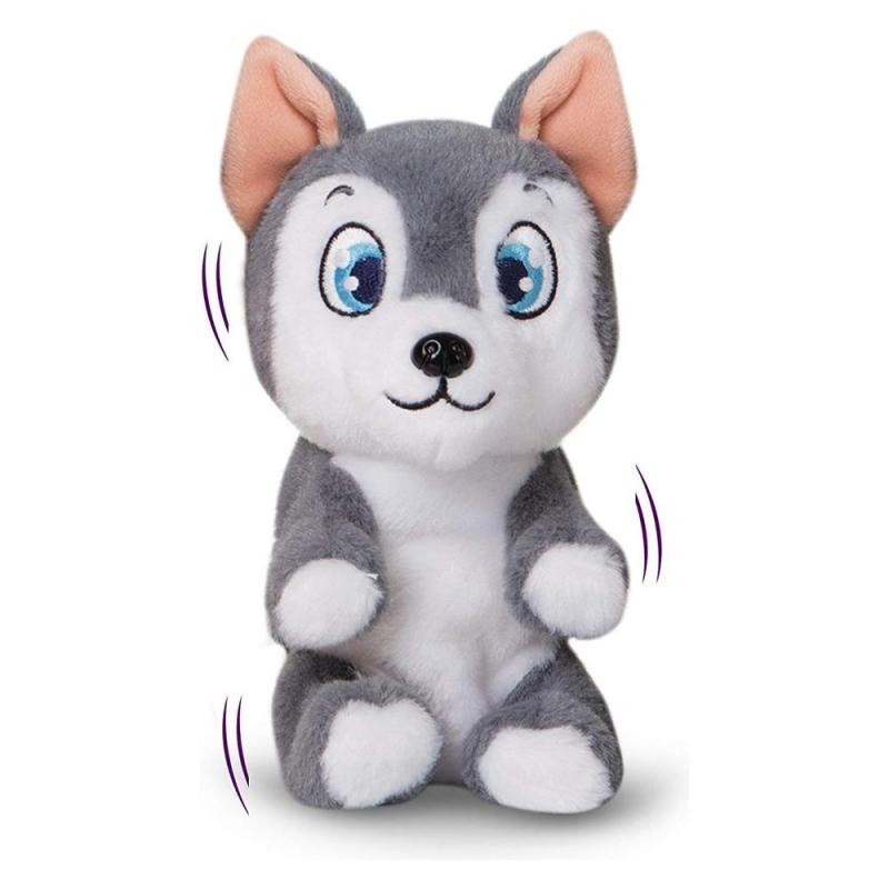 Интерактивная игрушка – Щенок, серый, звук