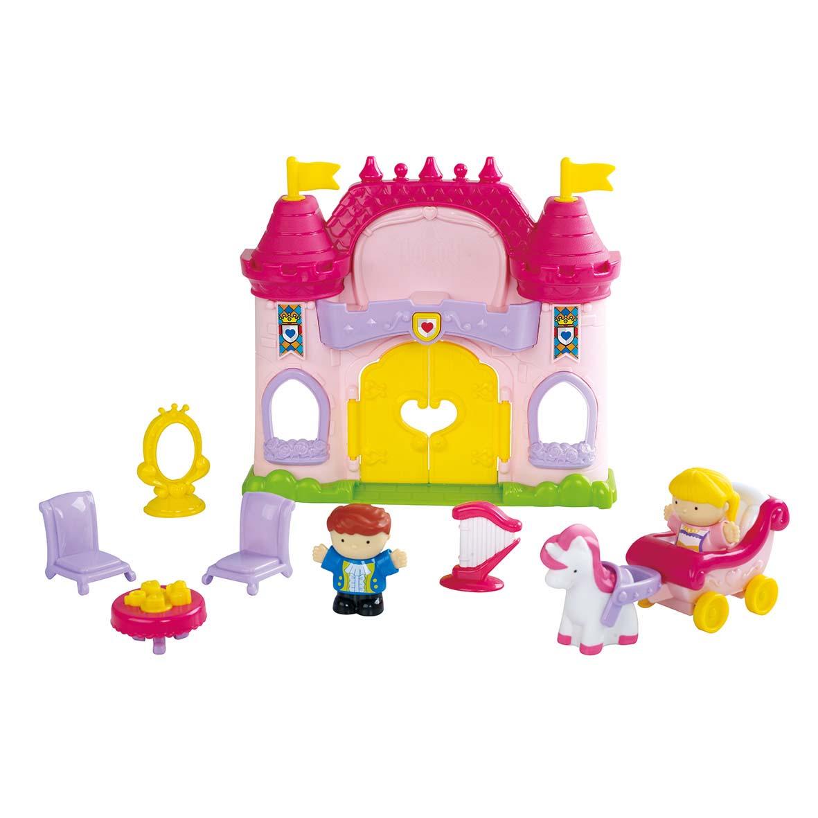 Купить Игровой набор - Сказочный замок, 11 предметов, звук, PlayGo