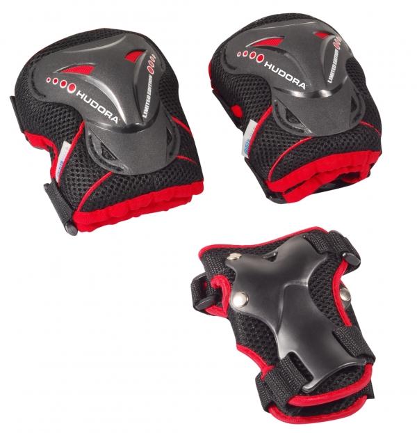 Купить Комплект защиты Grant, размер L, цвет - black-red/черно-красный, Hudora