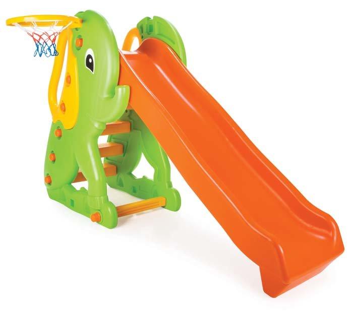 Игровой комплекс – Слон, горка и баскетбольное кольцоДетские игровые горки<br>Игровой комплекс – Слон, горка и баскетбольное кольцо<br>