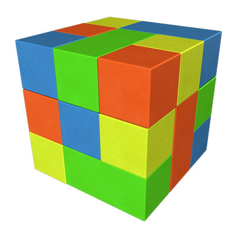 Купить Сборный игровой аксессуар – мягкий Кубик-Рубика, мини, Romana (Романа)