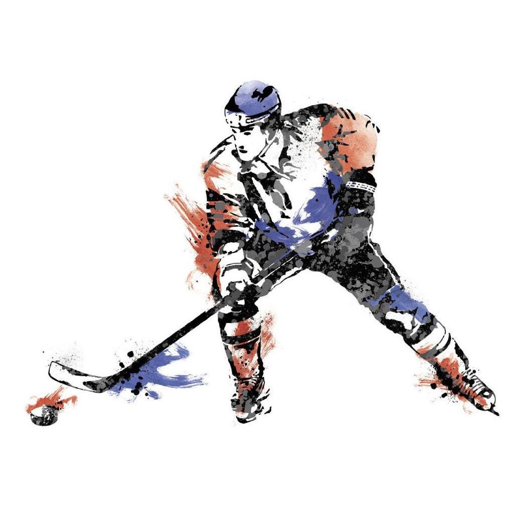 Наклейки для декора - Чемпионат по хоккею