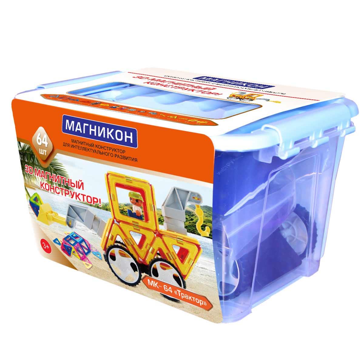Конструктор Магникон, 64 элемента - Конструкторы других производителей, артикул: 166098