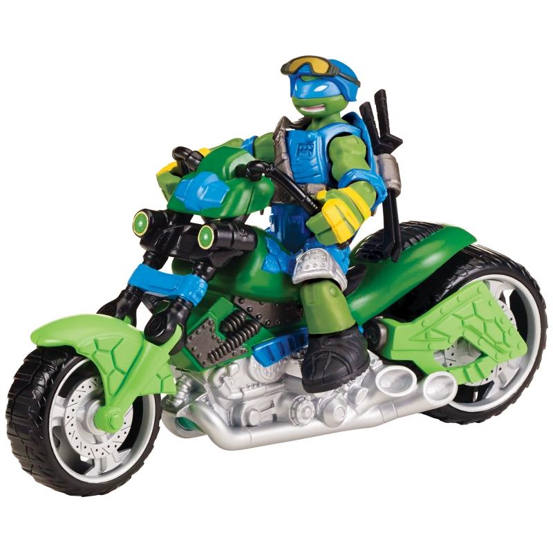 Мотоцикл-квадрокоптер с фигуркой Лео, серия MutationЧерепашки Ниндзя<br>Мотоцикл-квадрокоптер с фигуркой Лео, серия Mutation<br>