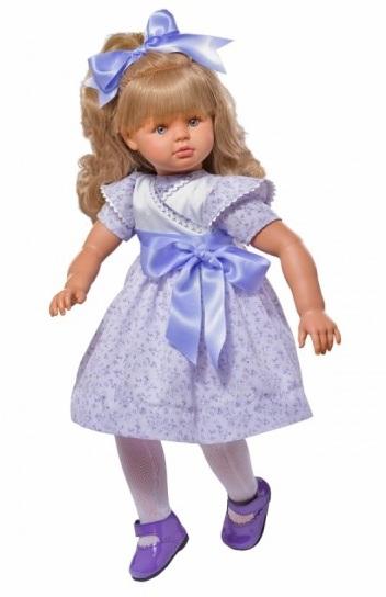 Кукла Пепа в лиловом платье, 60 см.Куклы ASI (Испания)<br>Кукла Пепа в лиловом платье, 60 см.<br>