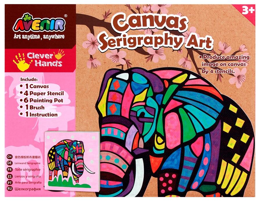 Большой набор для шелкографии - СлонРоспись по ткани<br>Большой набор для шелкографии - Слон<br>