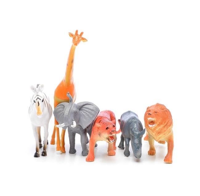 Игровой набор фигурок - В мире животных, 6 шт. по 15 см. фото