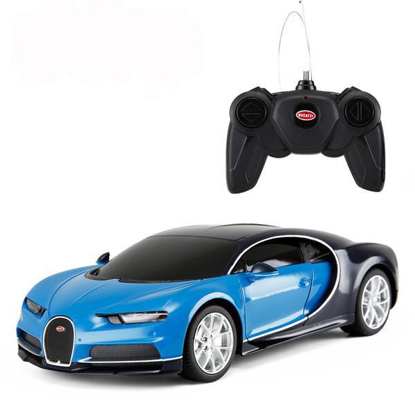 картинка Машина на р/у – Bugatti Chiron, 1:24, синий от магазина Bebikam.ru