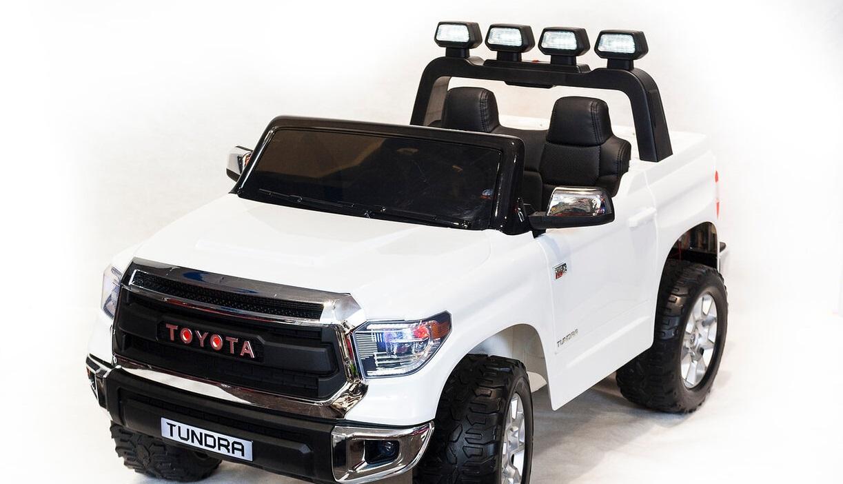 Электромобиль Toyota Tundra JJ2255, цвет – белый