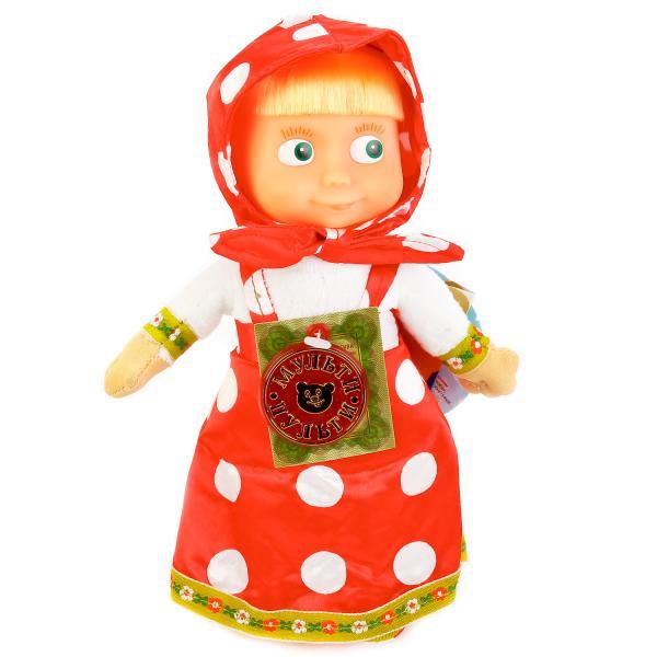Интерактивная мягкая игрушка Маша и Медведь – Маша, 22 смГоворящие игрушки<br>Интерактивная мягкая игрушка Маша и Медведь – Маша, 22 см<br>