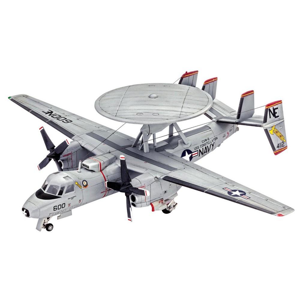 Сборная модель - Американский самолет ДРЛО Грумман E-2С – ХокайМодели самолетов для склеивания<br>Сборная модель - Американский самолет ДРЛО Грумман E-2С – Хокай<br>