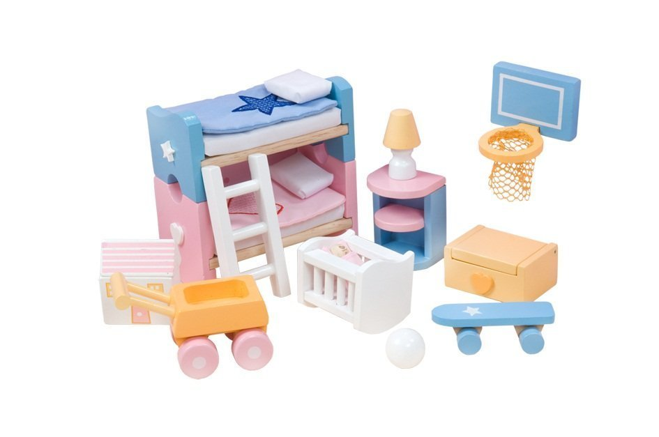 Набор кукольной мебели для детской - Сахарная сливаКукольные домики<br>Набор кукольной мебели для детской - Сахарная слива<br>