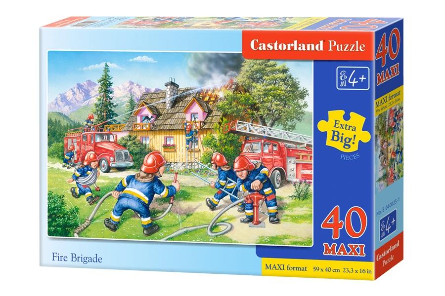 Купить Пазлы Castorland – Пожарные, 40 маxi элементов