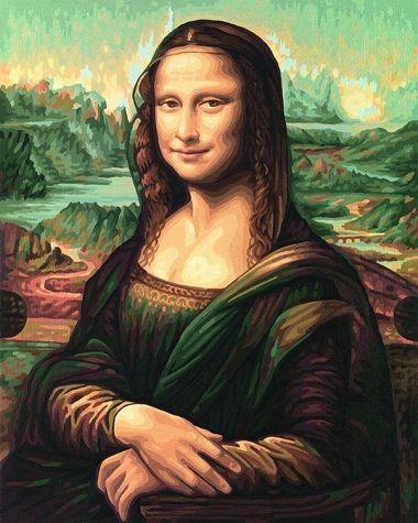 Мона Лиза, 40*50 смРаскраски по номерам Schipper<br>Раскраска по номерам Мона Лиза<br>Размер готовой работы: 40 х 50 см.<br>
