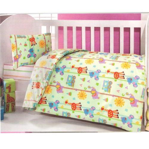 Купить Комплект постельного белья из 6-ти предметов ТМ Ups Pups серии Игрушки, цвет - салатовый, Kidboo