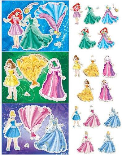 Набор для творчества Disney - Модные наряды для принцессы, 3 дизайнаАппликация, пайетки<br>Набор для творчества Disney - Модные наряды для принцессы, 3 дизайна<br>