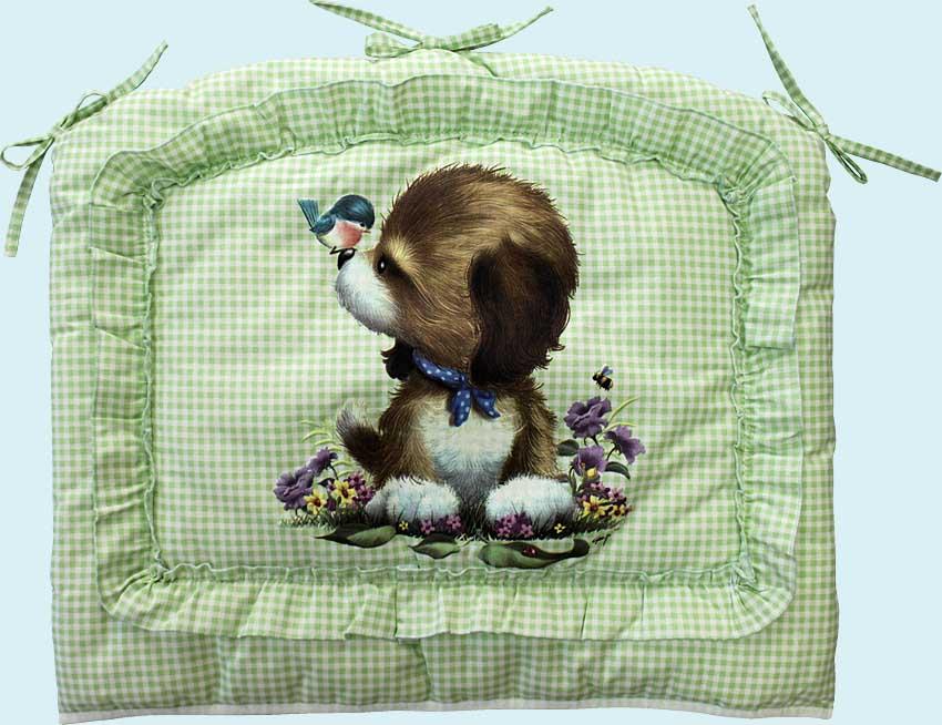 Бампер - Аленка, зеленыйДетское постельное белье<br>Бампер - Аленка, зеленый<br>