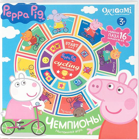 Купить Игра настольная Peppa Pig – Чемпионы, карусель-лото+пазл, Origami