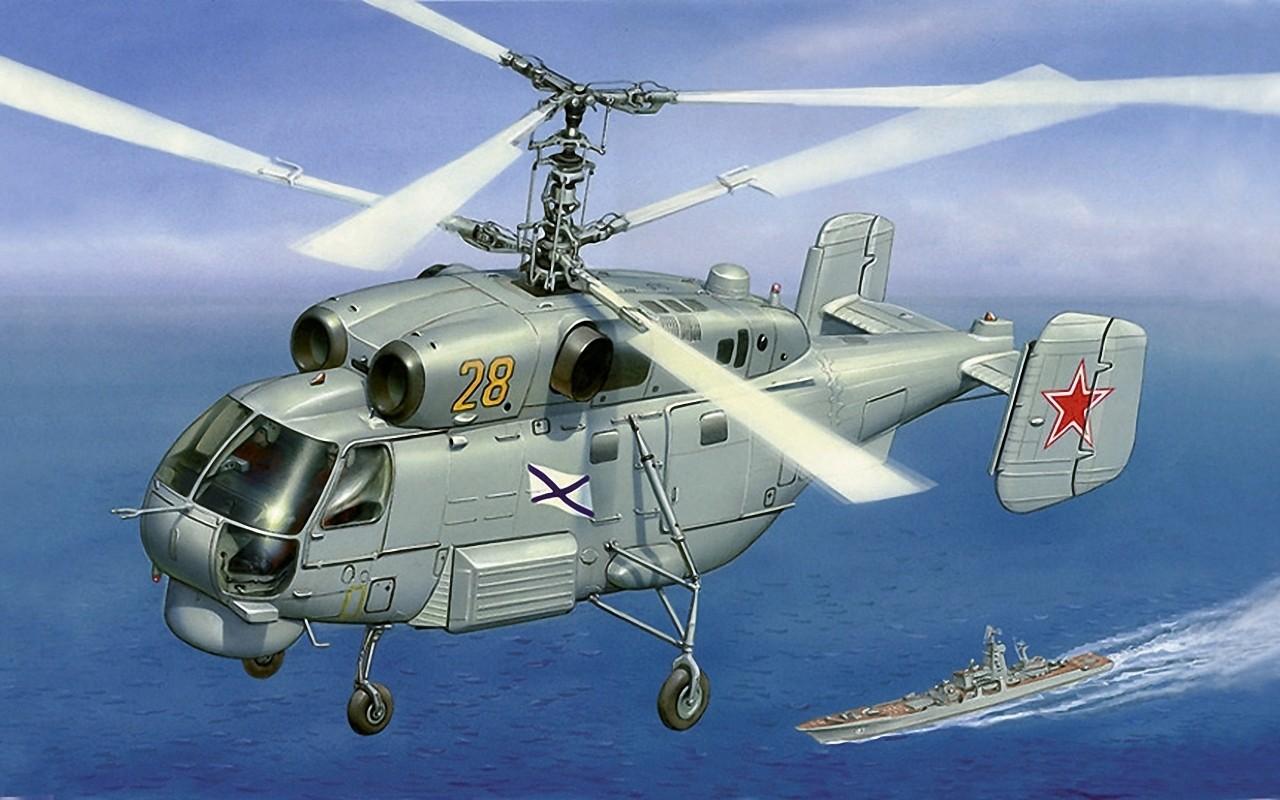 Модель для склеивания - Вертолёт Ка-27Модели вертолетов для склеивания<br>Модель для склеивания - Вертолёт Ка-27<br>