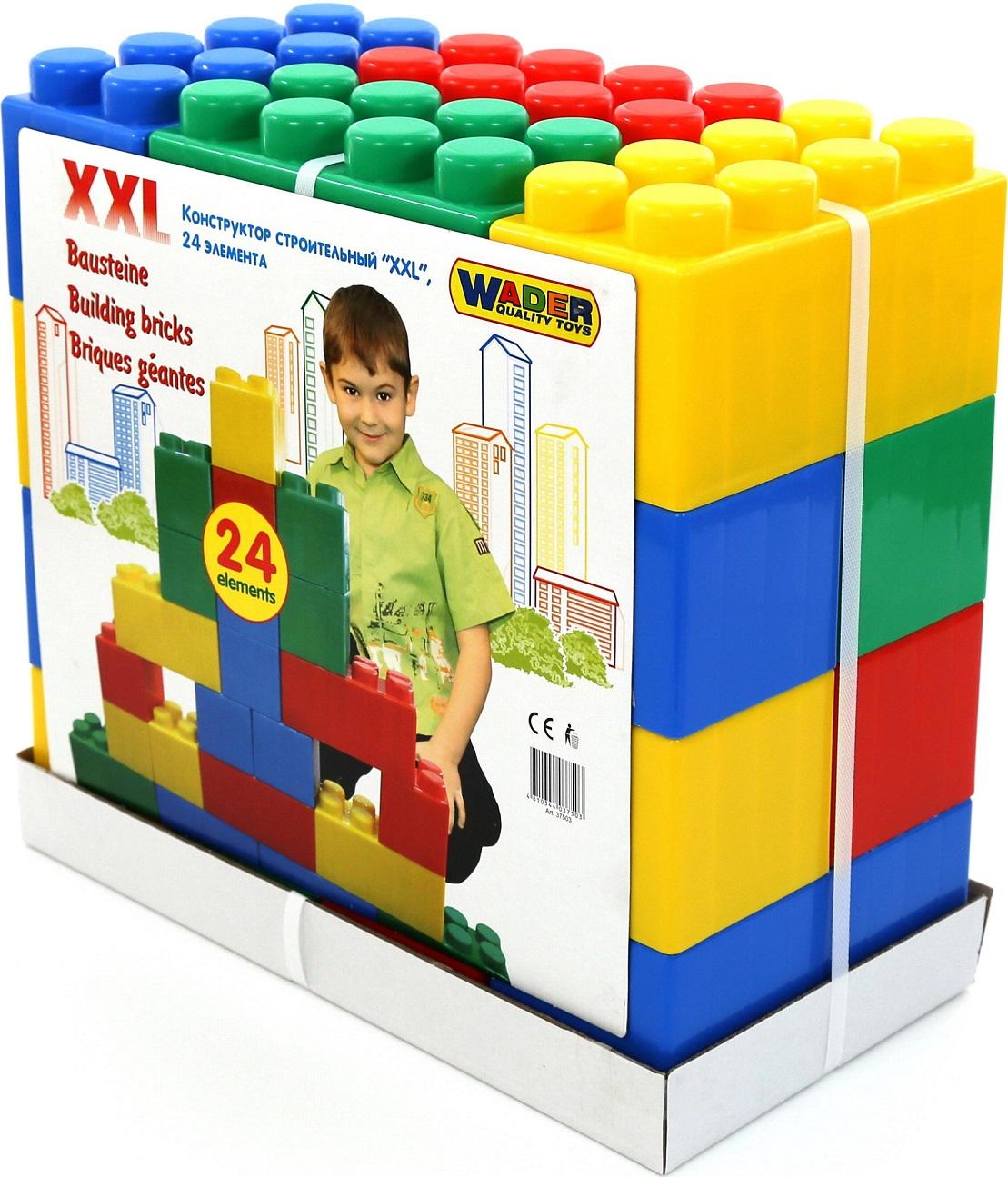 Конструктор строительный размер XXL, 24 элементаКонструкторы Полесье<br>Конструктор строительный размер XXL, 24 элемента<br>