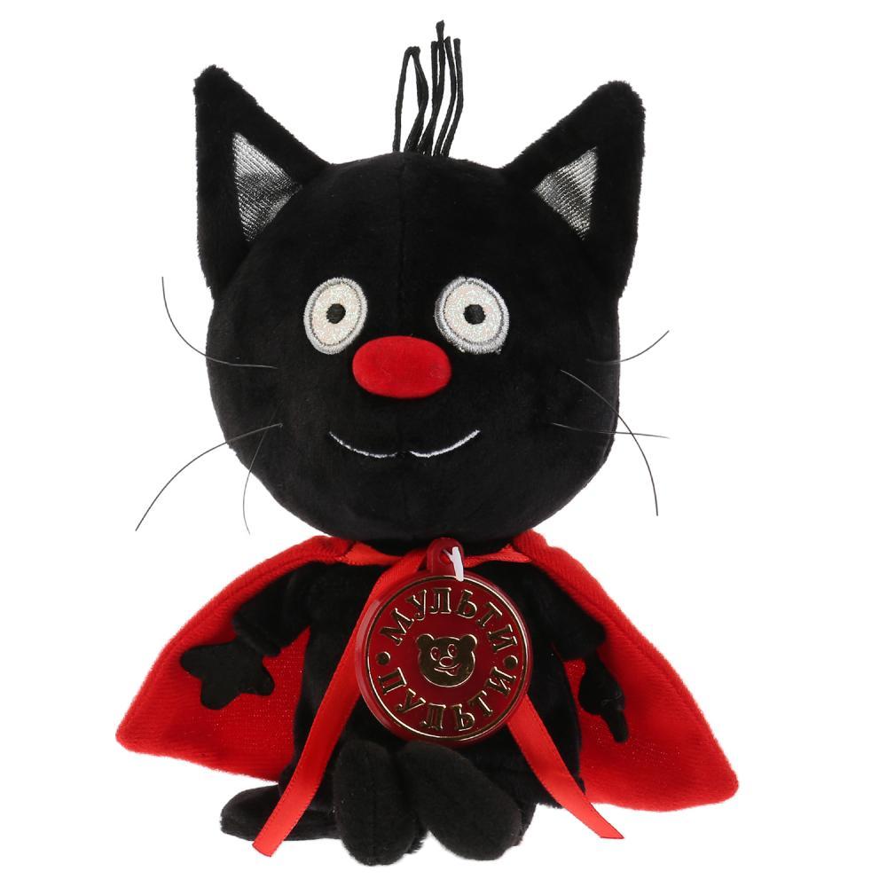 Музыкальная мягкая игрушка Три кота – Сажик 12 см.