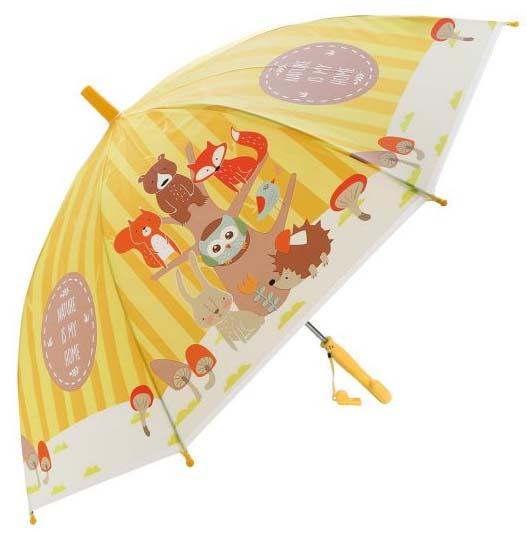 Зонт детский - Лесная семейка, 48 см, свисток, полуавтомат фото