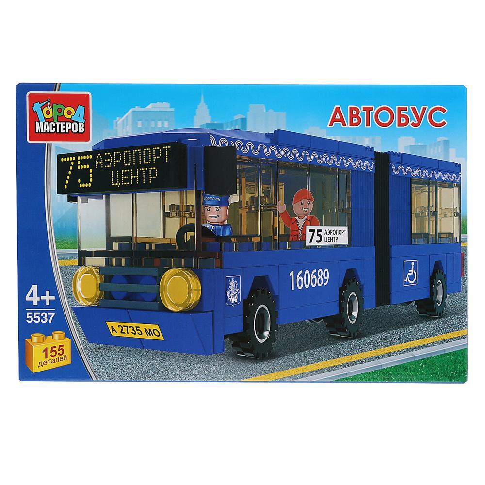 Купить Конструктор - Автобус с гармошкой, с фигуркой, 155 деталей, Город мастеров