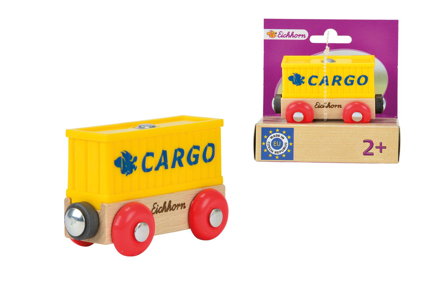 Игровой набор Вагон контейнерЖелезная дорога для малышей<br>Игровой набор Вагон контейнер<br>