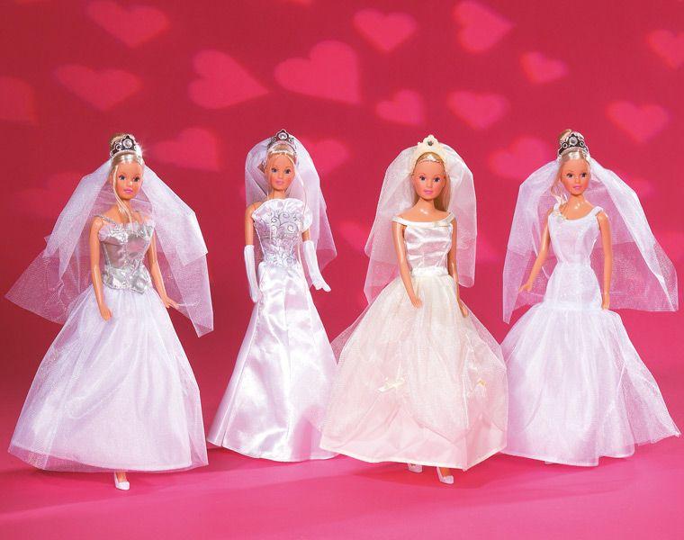Игровой набор - Штеффи-невестаКуклы Steffi (Штеффи)<br>Кукла Штеффи-невеста в свадебном наряде.<br>