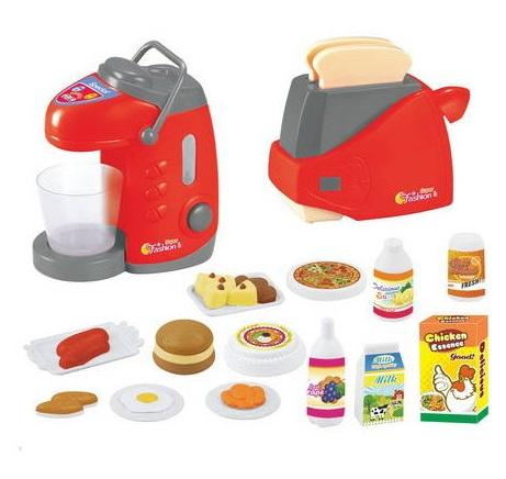 Ти-пот и тостер в наборе с другими аксессуарамиАксессуары и техника для детской кухни<br>Ти-пот и тостер в наборе с другими аксессуарами<br>