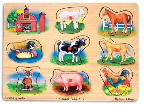Пазл со звуком «Ферма»Пазлы для малышей<br>Пазл со звуком «Ферма»<br>