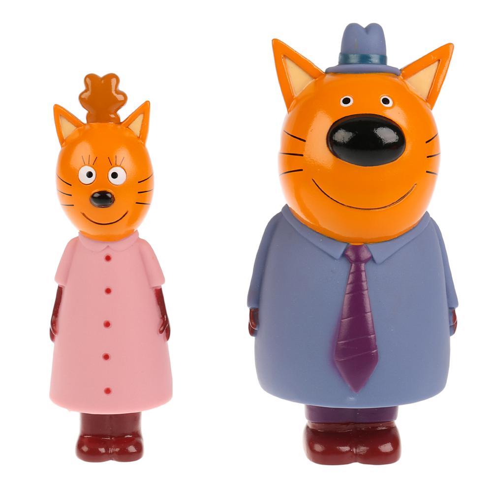 Набор из 2 игрушек для ванны Капитошка – Три Кота: мама и папа, Играем вместе  - купить со скидкой
