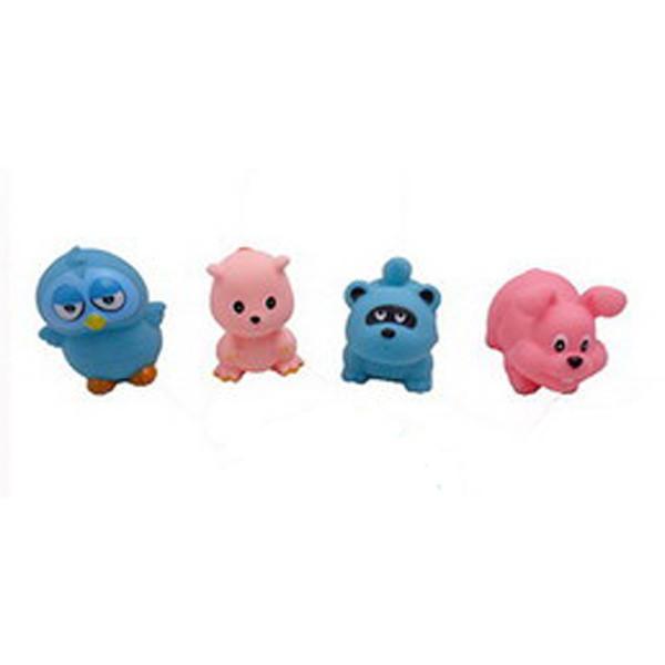 Набор резиновых животных для ванной - Веселое купание, 4 игрушкиРезиновые игрушки<br>Набор резиновых животных для ванной - Веселое купание, 4 игрушки<br>