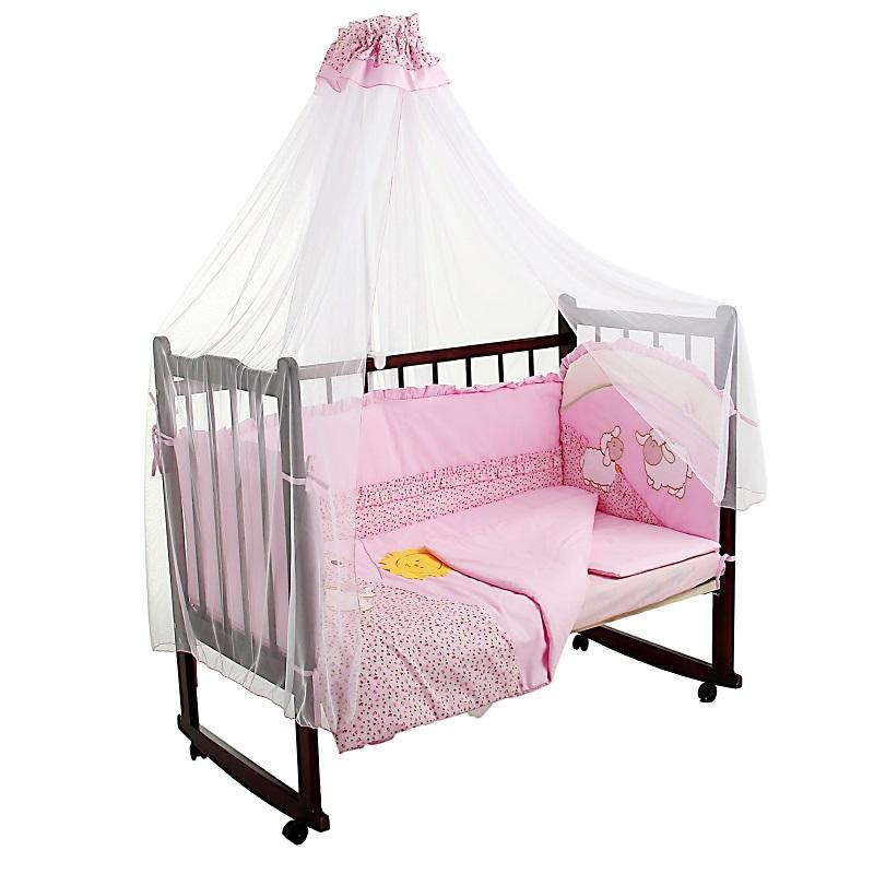 Комплект - Веселые овечки, розовыйДетское постельное белье<br>Комплект - Веселые овечки, розовый<br>