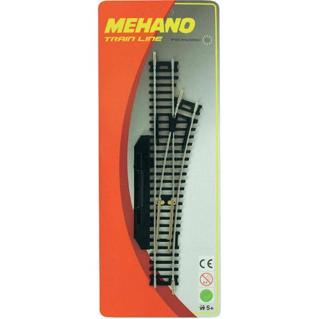 Стрелка правая Mehano, ручное переключениеДетская железная дорога<br>Стрелка правая Mehano, ручное переключение<br>