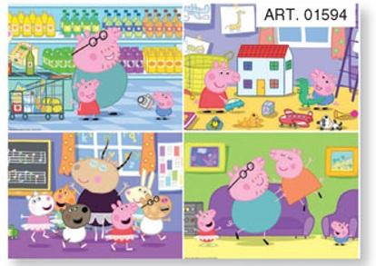 Купить Мини-пазл - Peppa Pig, 24 элемента, Origami