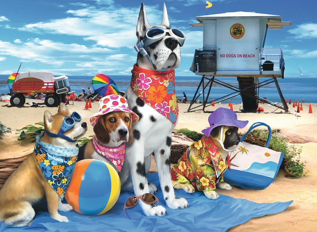 Паззл «Собаки на пляже» 100 штПазлы Ravensburger<br>Паззл «Собаки на пляже» 100 шт<br>