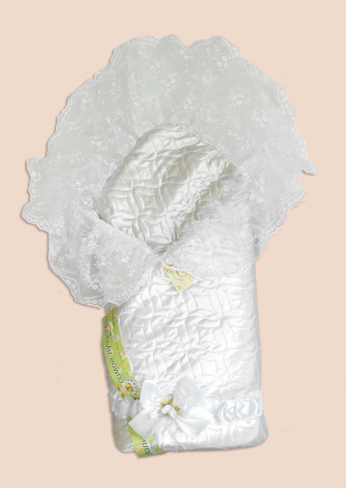 Одеяло на выписку – Мила, белоеКомплекты на выписку<br>Одеяло на выписку – Мила, белое<br>